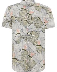 ad43150c Boss Men's Cattitude Short Sleeve Logo Oxford Shirt in Pink for Men ...