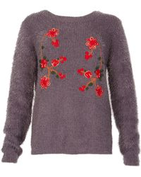 Tenki - Floral Embroidered Jumper - Lyst