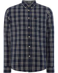 Lee Jeans - Men's Rider Navy Drop Shirt - Lyst