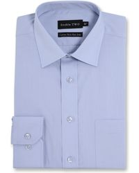 Double Two - Plain Long Sleeved Non-iron Shirt - Lyst