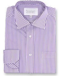 Double Two - Paradigm King Size Single Cuff Pure Cotton Shirt - Lyst