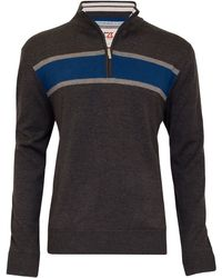 Cutter & Buck - Chest Stripe Windblock Jumper - Lyst
