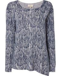 Linea Weekend - Knit Drift Print Asymmetric Jumper - Lyst