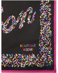 Boutique Moschino | Bon Bon Confetti Square Silk Scarf | Lyst