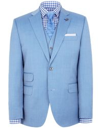 Gibson - Pale Blue Two Peice Suit - Lyst