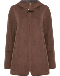 Ellen Tracy - Double Face Zip Front Hooded Coat - Lyst