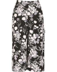 Izabel London - Wide Leg Trousers With Poppy Print - Lyst