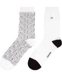 Calvin Klein - Repeat Logo 2 Pair Pack Ankle Socks - Lyst