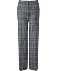 Jigsaw - Check Parallel Trousers - Lyst