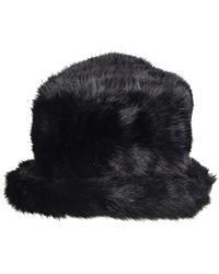 Dents - Women`s Faux Fur Hat Wth Brim - Lyst