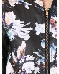 Izabel London - Floral Print Bomber Jacket - Lyst