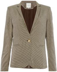 Part Two - Check Blazer In A Comfortable Fabric - Lyst