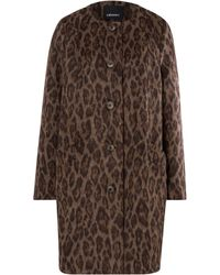 Olsen - Animal Print Coat - Lyst