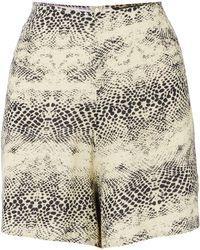 Biba | Snake Print High Waisted Shorts | Lyst