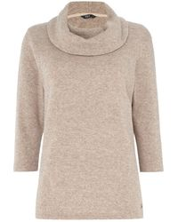 Tigi - Knitted Cowl Neck Top - Lyst