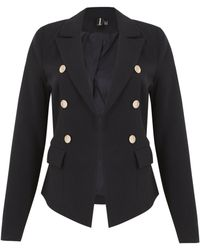 Izabel London - Fitted Classic Buttoned Jacket - Lyst