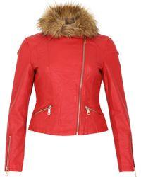 Izabel London - Classic Biker Jacket - Lyst