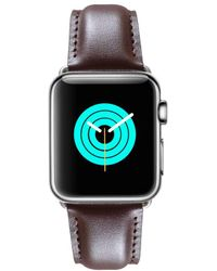 Mintapple - Soft Leather Strap For Silver Apple Watch - Lyst