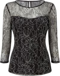 Precis Petite - Anya Lace Gathered Top - Lyst