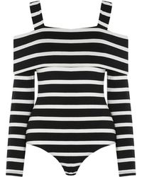 Warehouse - Stripe Off The Shoulder Body - Lyst