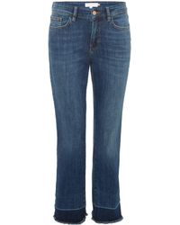 Part Two - Cropped Frayed Hem Jean - Lyst