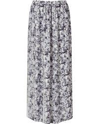 Jacques Vert - Printed Plisse Contrast Skirt - Lyst