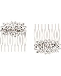 Accessorize - 2x Crystal Combs - Lyst