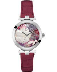 Gc - Y22005l3 Ladies Leather Dress Watch - Lyst