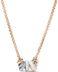 Fossil - Ladies` Classics Rose Gold-tone Necklace - Lyst