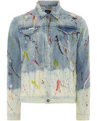 Pepe Jeans - Men's Evans Paint Light Jackets - Lyst