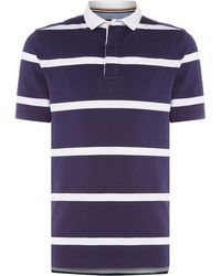 Howick - Men's La Fine Stripe Quilted Short Sleeve Rugby - Lyst