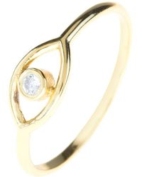 LÁTELITA London - Mystic Eye Ring White Topaz Gold - Lyst
