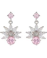 Mikey - Cubic Drop Flower Stud Earring - Lyst