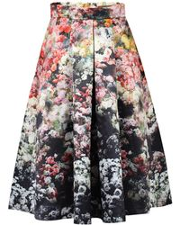 Jolie Moi - Floral Print A-line Midi Skirt - Lyst