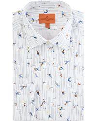 Simon Carter - Men's Trapeze Print Shirt - Lyst