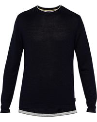 Ted Baker - Men's Inzone Ls Rib Detail Crew Neck - Lyst