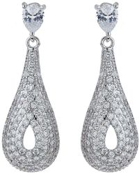 Mikey - Filigree Eclipse Cubic Drop Earring - Lyst