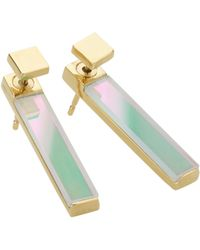 Storm - Silica Earrings Gold - Lyst