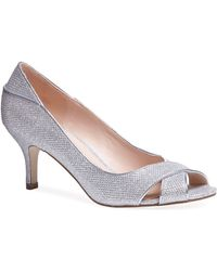 Paradox London Pink - Adele Glitter Peep Toe Court Shoes - Lyst