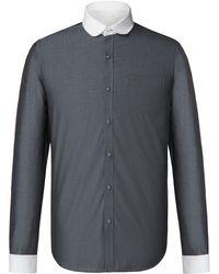 Gibson - Men's Grey Penny Round Shirt - Lyst