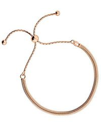 Azendi | Rose Vermeil Adjustable Chain Bracelet | Lyst