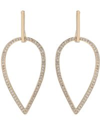 Mikey - Eclipse Design Cubic Drop Earring - Lyst