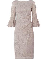 Eliza J   Lace Gathered Waist Flare Sleeve Dress   Lyst