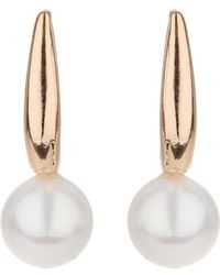 Mikey - Pearl Drop Stem Earring - Lyst