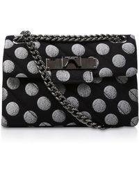 Kurt Geiger - Fabric Mini Mayfair X Shoulder Bag - Lyst