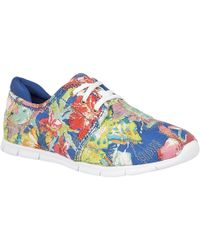 Lotus - Meadow Floral Print Lace Up Trainers - Lyst