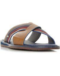 Ted Baker - Farrull Tape Cross Strap Sandals - Lyst