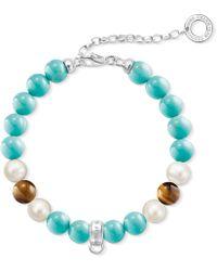 Thomas Sabo - Charm Club Silver Beaded Charm Bracelet - Lyst