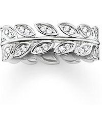 Thomas Sabo - Fairy Twines Silver Leaf Ring Band - Lyst