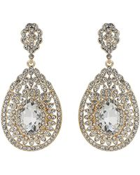 Mikey - Eclipse Filligree Crystal Stone Earring - Lyst